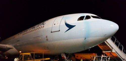【キャセイパシフィック航空・ビジネスクラス】CX602マレ(モルディブ) - 香港